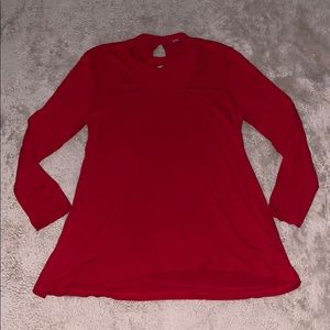 Vince Camuto Red Tunic Top Size Large